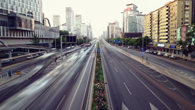 Futuristic city timelapse video