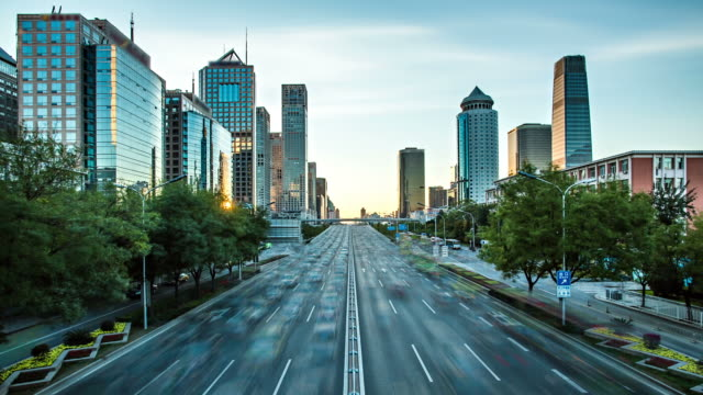 Futuristic city timelapse