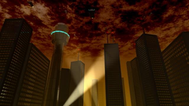 未来的な都市 - 不吉点の映像素材/bロール
