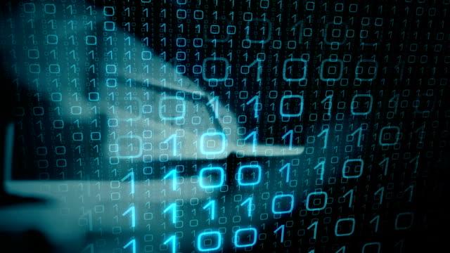Futuristic communication idea motion background Computer binary data, technology motion background antivirus software stock videos & royalty-free footage