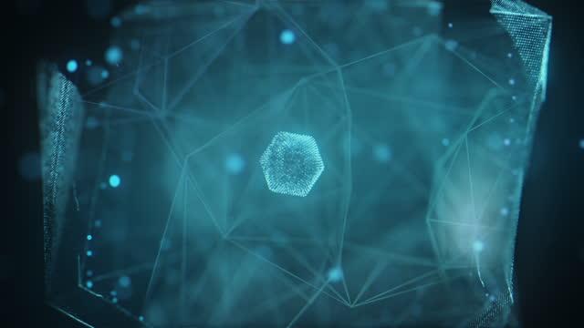 Futuristic computer processing data - Artificial Intelligence Concept