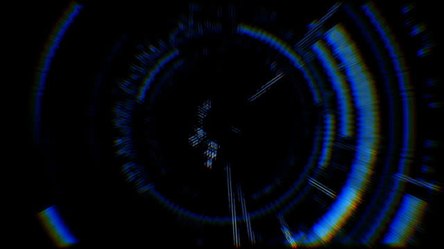 Futuristic computer screen video