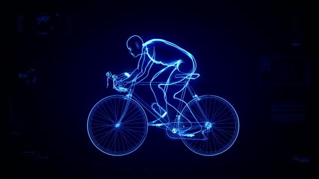 Futuristic cycling background #2 video