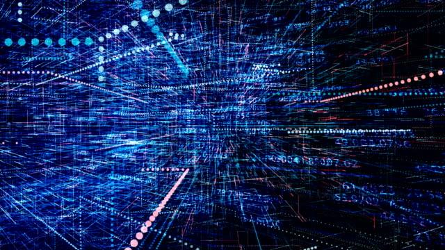 futuristic digital blockchain background, fintech technology concept - криптовалюта стоковые видео и кадры b-roll