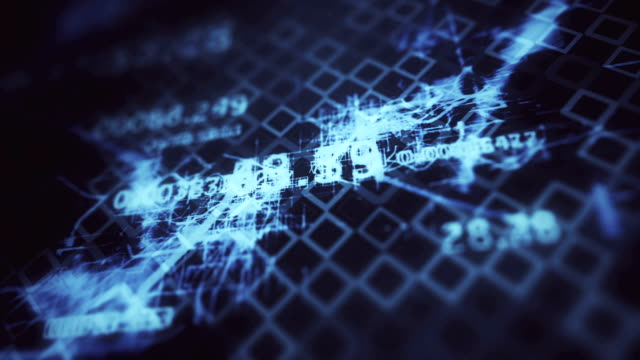 Futuristic digital blockchain background, fintech technology concept video