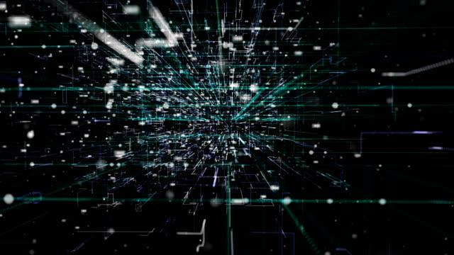 futuristischer digitaler blockchain-hintergrund, fintech-technologie - blockchain stock-videos und b-roll-filmmaterial