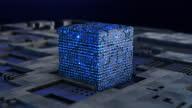 istock Futuristic digital blockchain background, fintech technology 1346603251