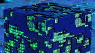 istock Futuristic digital blockchain background, fintech technology 1346608616