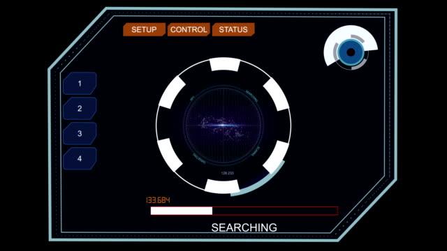 Futuristic digital button HUD element video