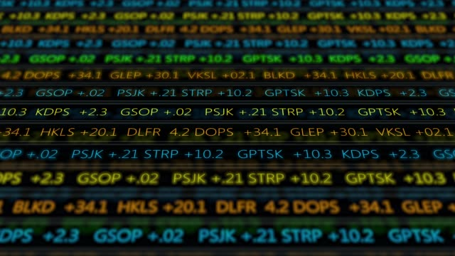 Futuristic digital stock exchange numbers flowing in computer V2