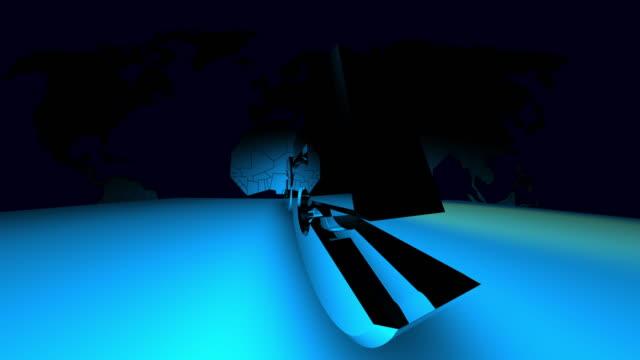 4K 3D Futuristic Digital Technology Animation of 5G