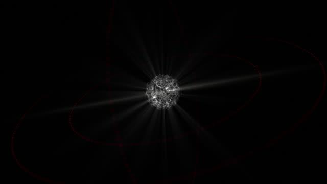 4K 3D Futuristic Digital Technology Animation of Light Globe