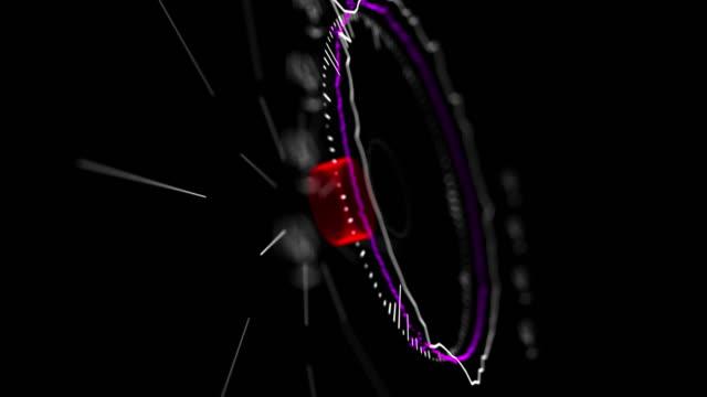 4K 3D Futuristic Digital Technology Animation of Music Waves