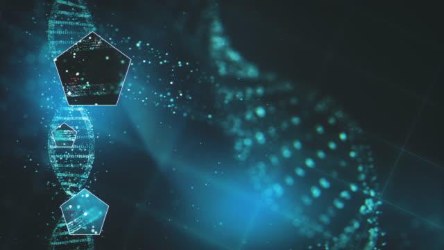 Futuristic DNA Research Background