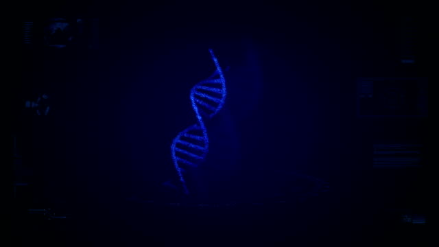Futuristic DNA screen animation video