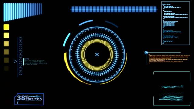 futuristiska dynamisk hud, hi tech user interface head up display - topografi bildbanksvideor och videomaterial från bakom kulisserna