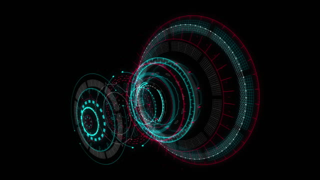 HUD GUI futuristic element. Set of Circle Abstract Digital Technology UI Futuristic HUD Virtual Interface Elements