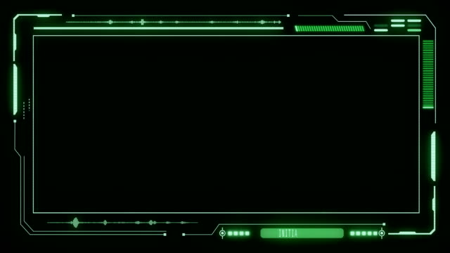 HUD Futuristic Elements Interface Display Panel HUD Futuristic Elements Poor Interference Signal Screen User Control Interface Panel. Motion Display Abstract VHS Noise Background In Green Virtual Hi Technology Future Frame hologram stock videos & royalty-free footage