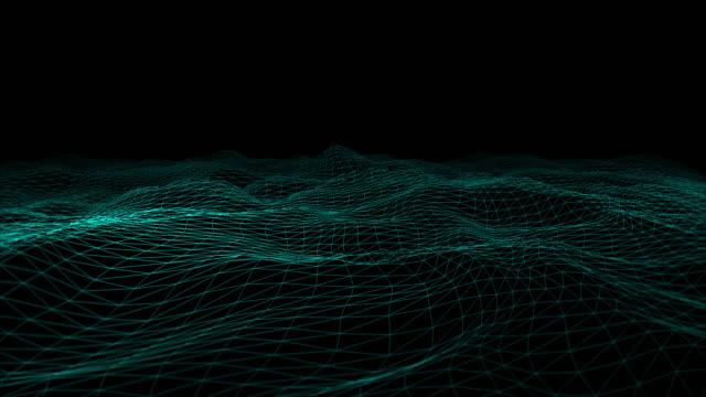 Futuristic Geometric Line Abstract Background - Creative Design Element. video