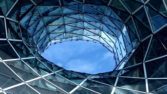 Futuristic glass facade  - time lapse video