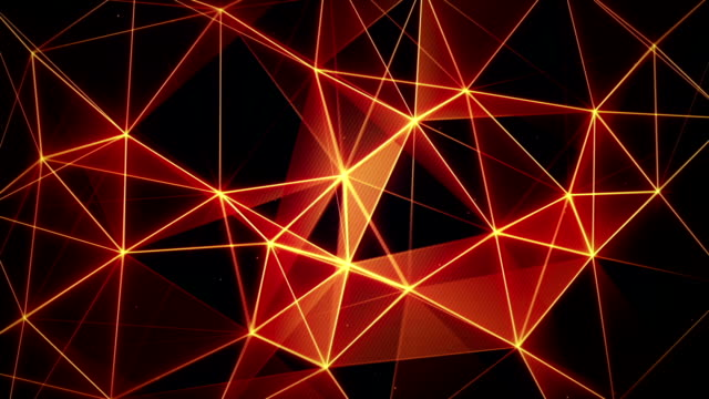 futuristic glowing orange network seamless loop video