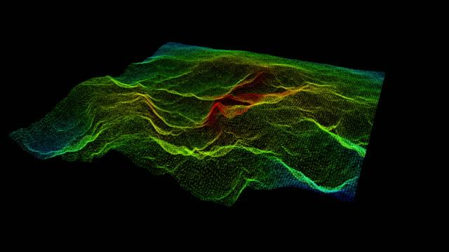 Futuristic Holographic Terrain Head Up Display