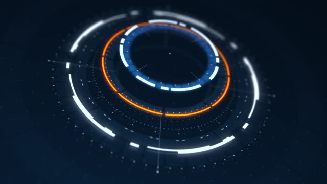 Futuristic HUD conceptual animation video