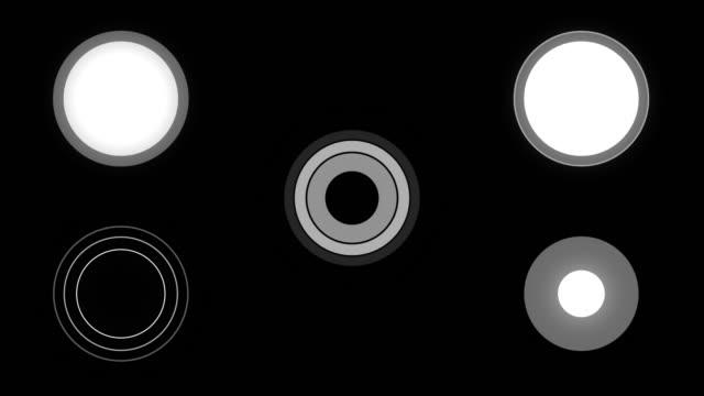 vídeos de stock, filmes e b-roll de gráficos em movimento futurista de hud - posição