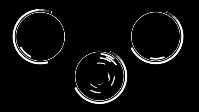 未来の hud モーション グラフィックス - 輪点の映像素材/bロール