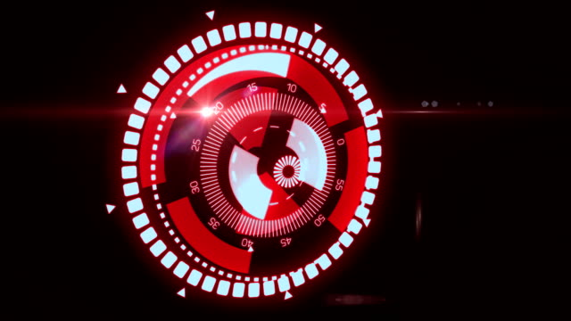 Futuristic HUD Target UX UI Interface. Motion graphic for tech title and background, news headline business intro screensaver. video