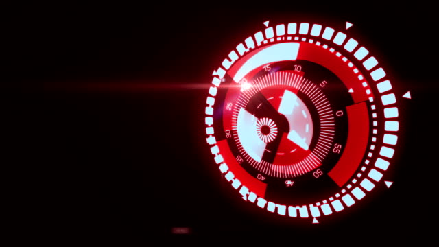 Futuristic HUD Target UX UI Interface. Motion graphic for tech title and background, news headline business intro screensaver. Available in 4K video