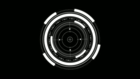 stockvideo's en b-roll-footage met futuristische hud - cirkel