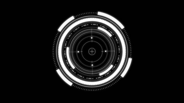 futuristisches hud - kreis stock-videos und b-roll-filmmaterial
