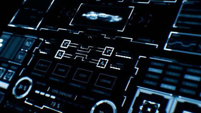 未来のインターフェイス |hud |デジタル画面 - 全壊点の映像素材/bロール