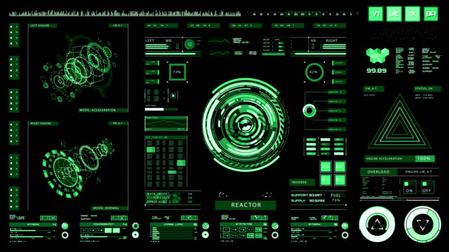 Futuristic interface | HUD | Digital screen video