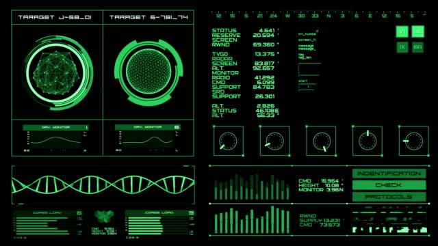 vídeos de stock e filmes b-roll de futuristic interface | hud | digital screen - controlo