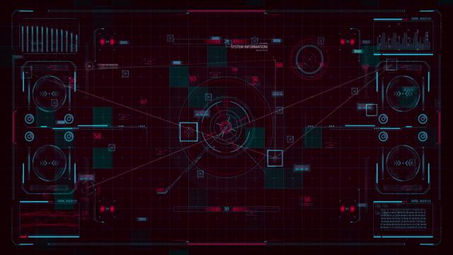 Futuristic interface HUD Digital screen video