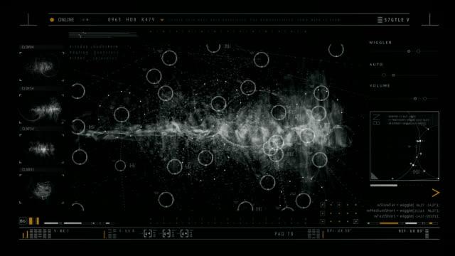 未来的なインターフェース - センサー点の映像素材/bロール