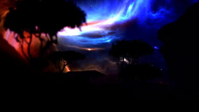 Futuristic landscape video