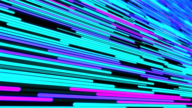 vídeos de stock, filmes e b-roll de 4 - fundo da linha futurista - light trail