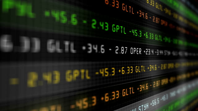 futuristic modern digital stock market multicolor ticker alt - dow jones industrial average video stock e b–roll