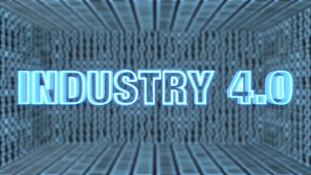 Futuristisches Motherboard Industrie 4.0 Concept Loop 4K – Video
