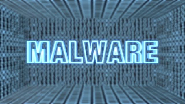 futurystyczna płyta główna malware concept loop 4k - spyware filmów i materiałów b-roll