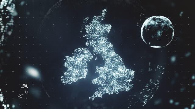 futuristiska rörlig grafik av storbritannien - sweden map bildbanksvideor och videomaterial från bakom kulisserna