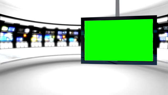futuristic newsroom virtual set background video