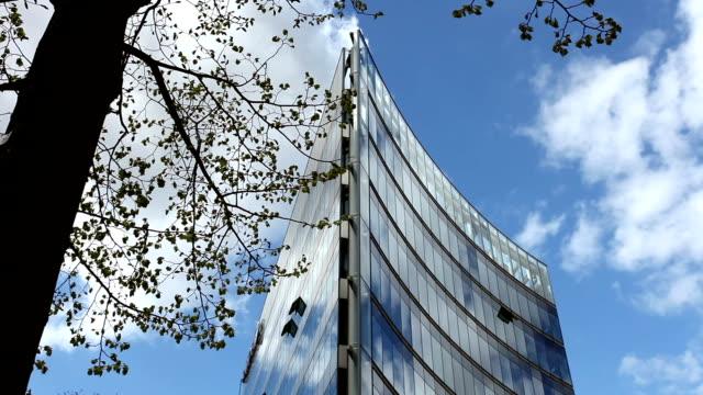 Futuristic office building video