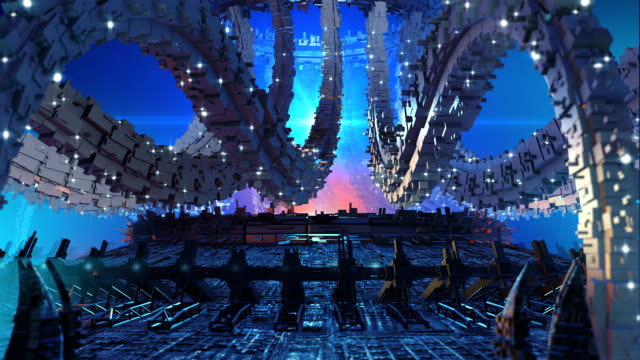 3D futuristic organic architecture video