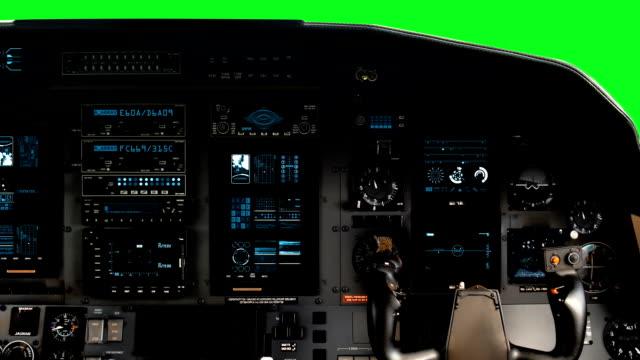 Futuristic Pilot Cockpit Seat With A Full Operative