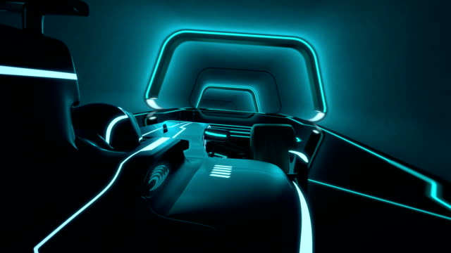 futuristic racecar in a tunnel with glowing neon lines driver's POV of a single-seater auto racing racecar speeding along a futuristic tunnel with neon light lines in tron look - high quality 3d animation - loopable video game stock videos & royalty-free footage