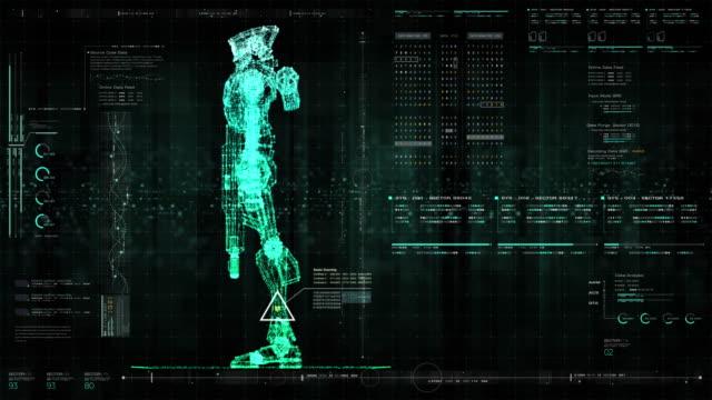 未来ロボット研究開発hud - ホログラム点の映像素材/bロール